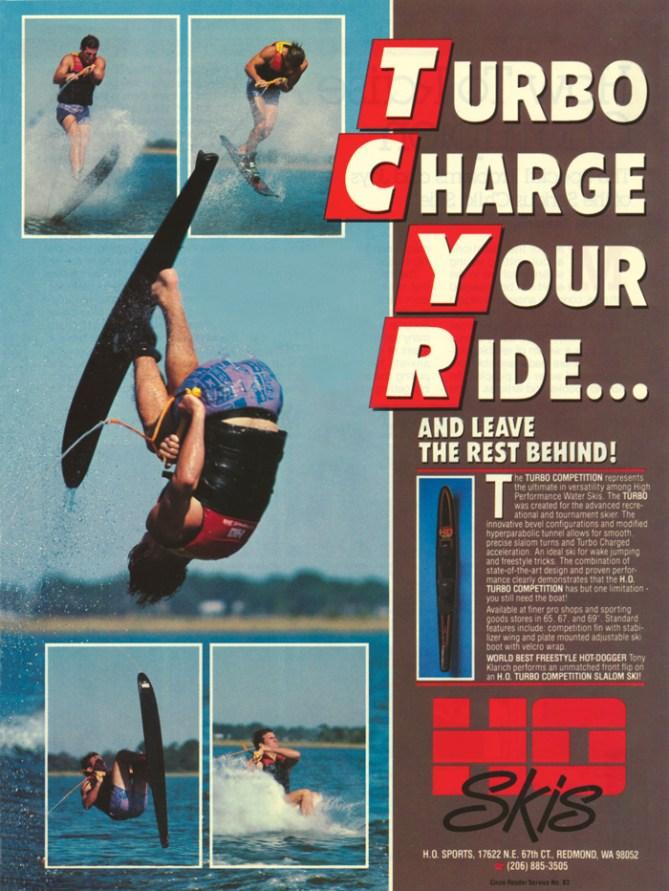 Klarich Slalom Water Skiing Front Flip HO Turbo
