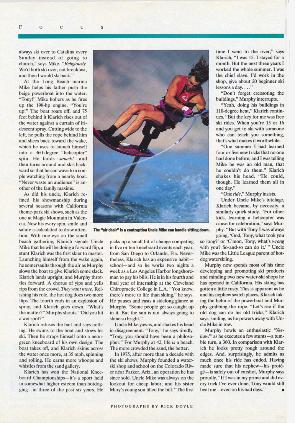 Klarich Water Skiing Hot Dog Sports Illustrated 2