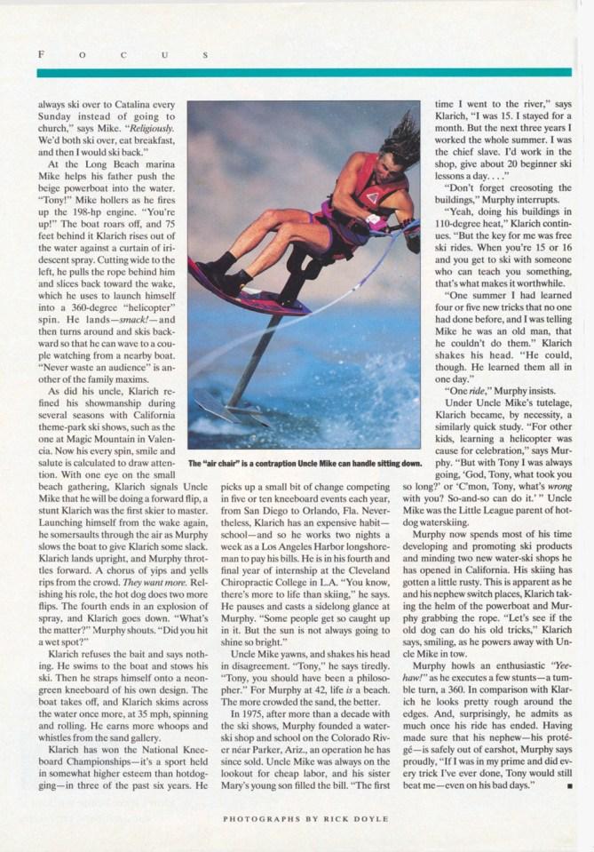 Klarich Water Skiing Hot Dog Sports Illustrated 2