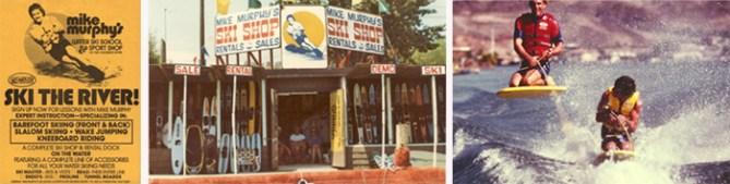 Mike Murphy Klarich Water Ski Shop Colorado RIver Kneeboard Tricks