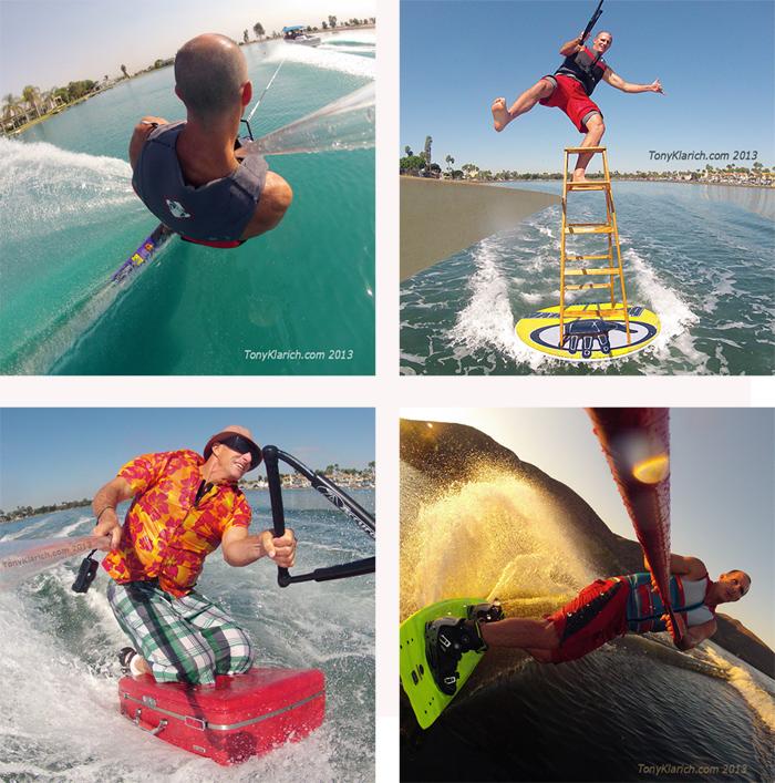 Tony Klarich GoPro Best Wakeboard Slalom Water Skiing Disc Ladder Suitcase