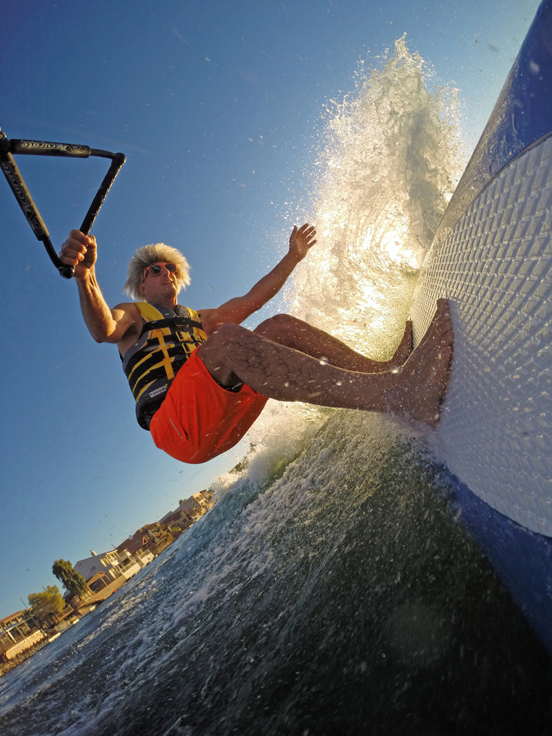 tony klarich wake surfing off the lip sunset free pictures gopro