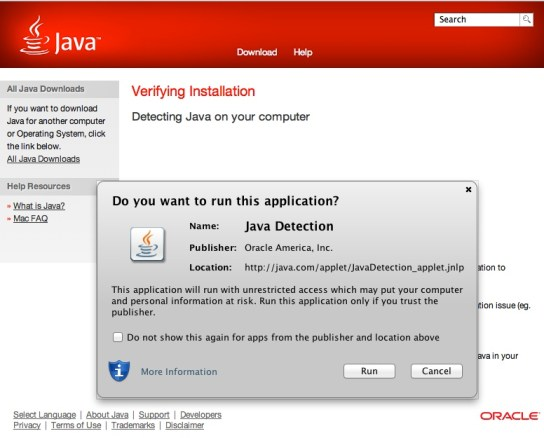 Java Detection Using ... Java