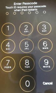 Passcode Entry Screen Apple vs FBI