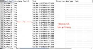 TempTraq Excel Report TempTraq Temperature Monitor
