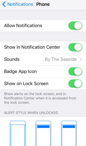 Settings/Notifications My iPhone 6s Phone Would Not Ring But I Found The Answer
