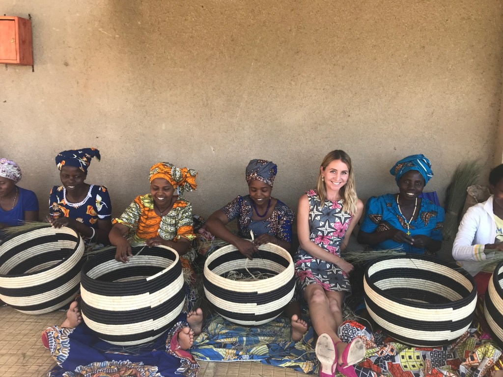 Alicia Wallace, All Across Africa, pictured with artisans