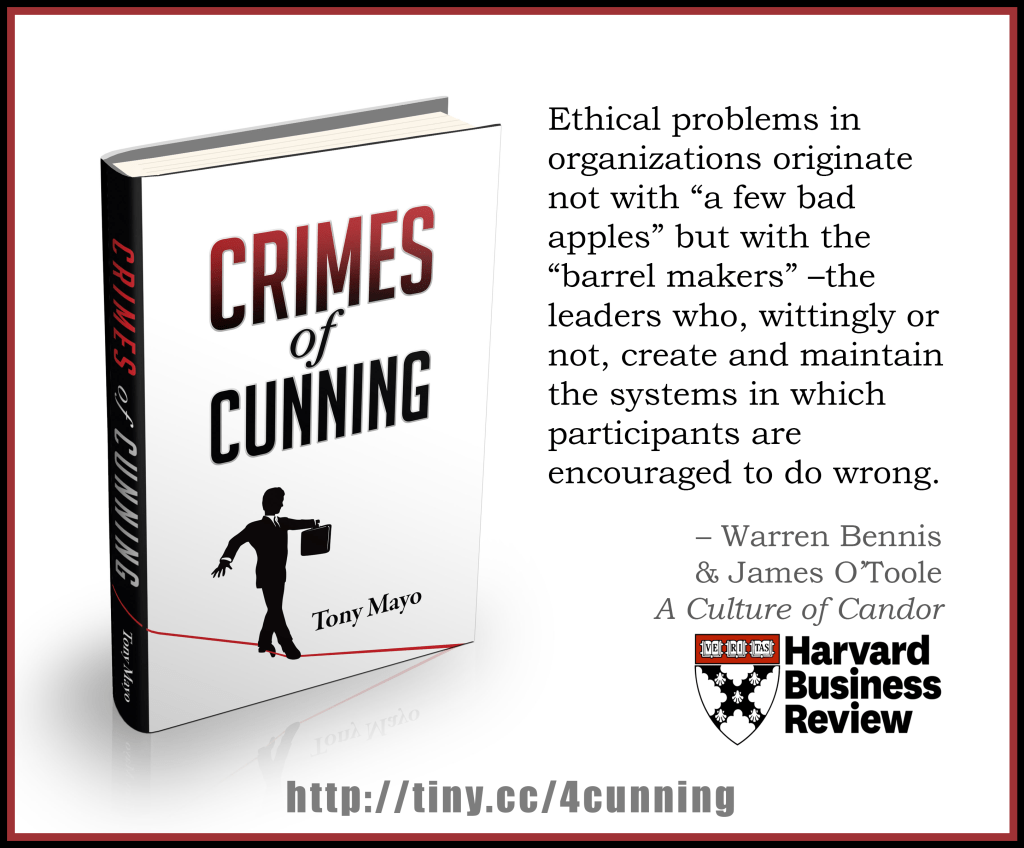 Warren Bennis on ethics from Crimes of Cunning