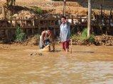 Gathering mud