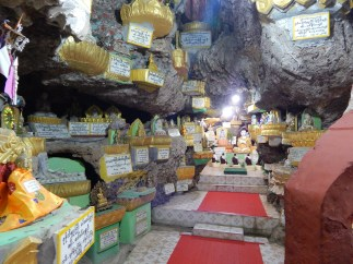 Buddha statues in the cave