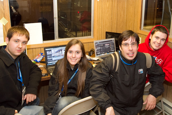 Ryan Wismer, Leah Houck, Tony Romeo, Jim Sullivan in 2012 Mummers Parade Web Production Truck.