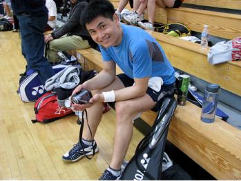 Tony at Badminton Tournament