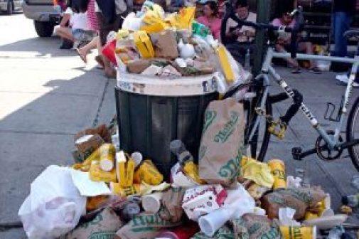 fast food restaurant waste