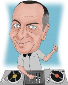 Tony Zeoli caricature by Hiroshi Mizuno