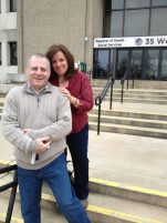 Pic of Tony & Missy outside registry of deeds