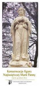 Folder Konserwacja figury Najświętszej Marii Panny