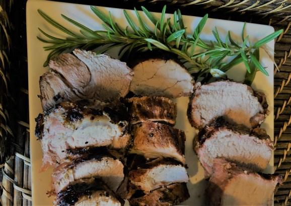 rosemary garlic marinade on pork tenderloin