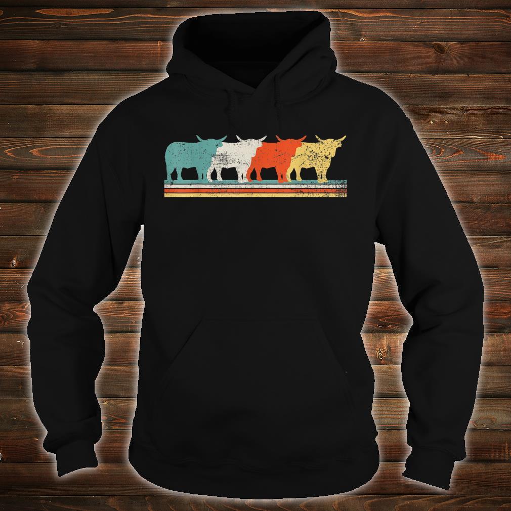 Highland Cow Scottish Vintage Shirt hoodie
