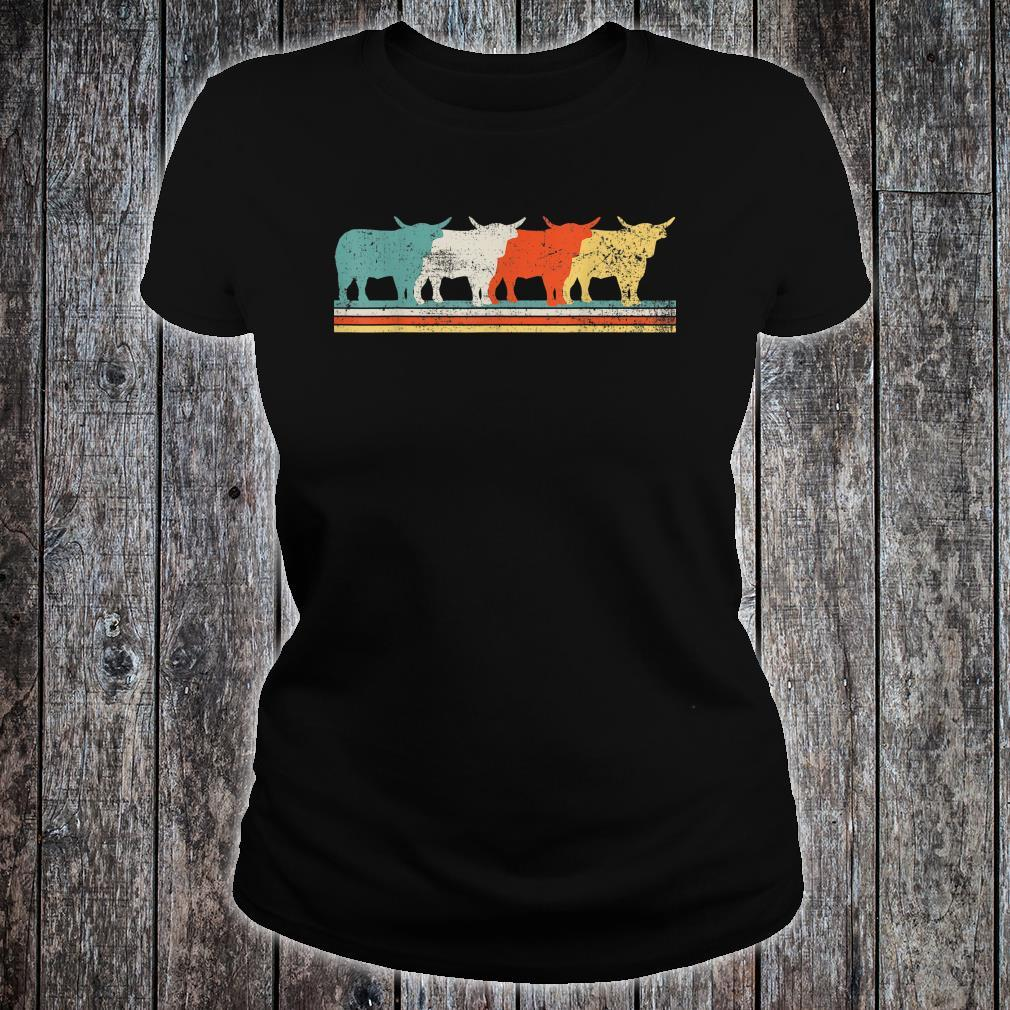 Highland Cow Scottish Vintage Shirt ladies tee