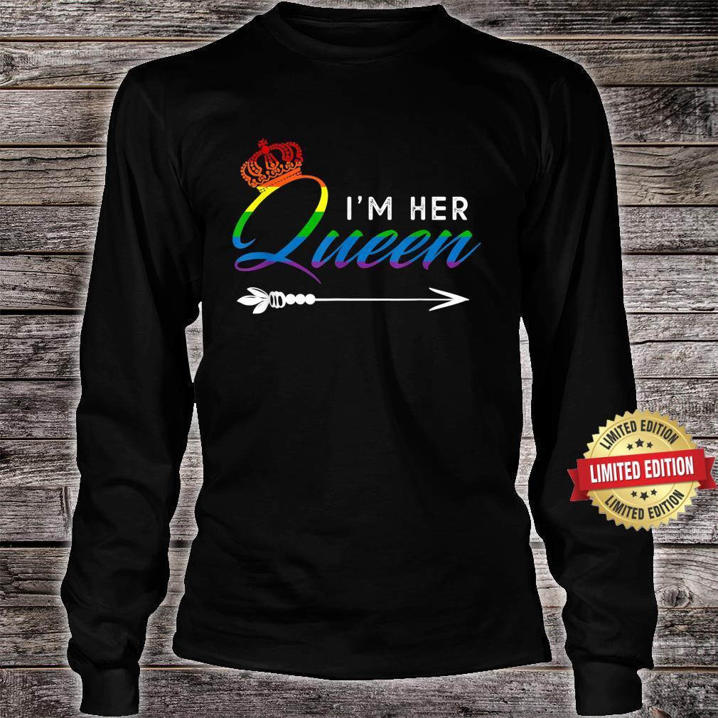 Matching Lesbian Couple Her Queen Girlfriend Pride LGBT Shirt long sleeved
