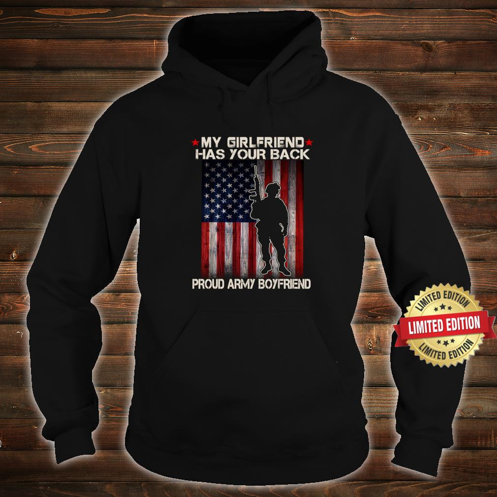 My Girlfriend Has Your Back Proud Army Boyfriend Military Shirt hoodie