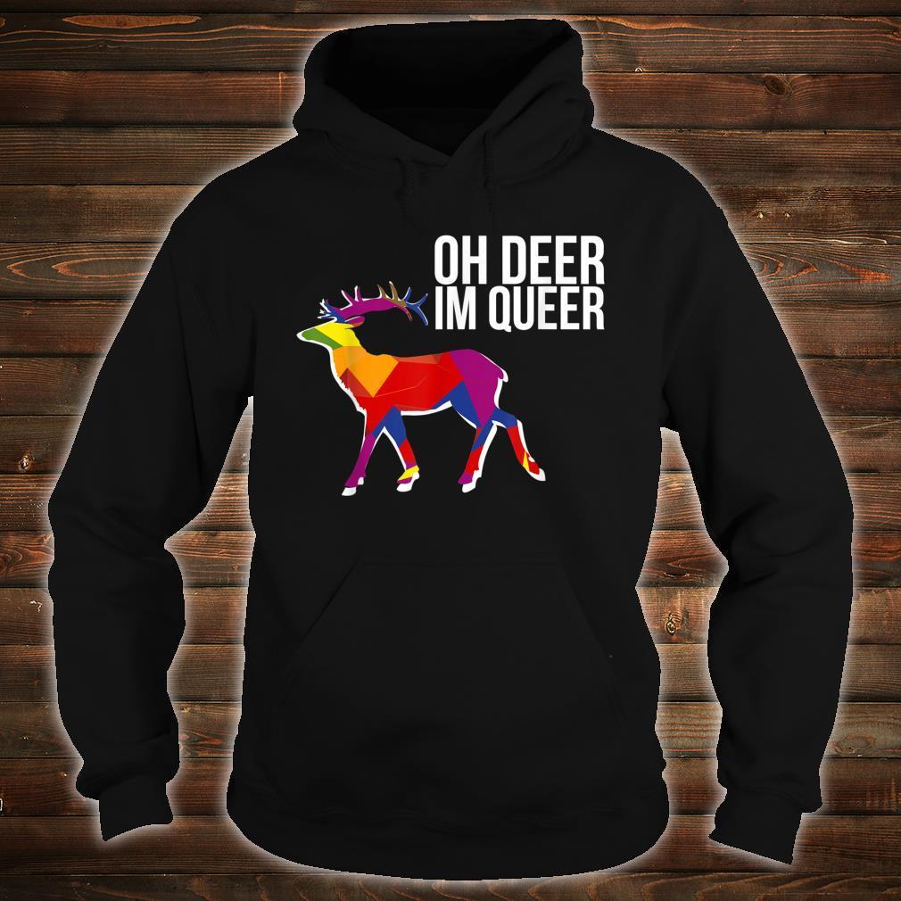 Oh Deer Im Queer Transgender Queer LGBTQ+ Love Equality Bi Shirt hoodie