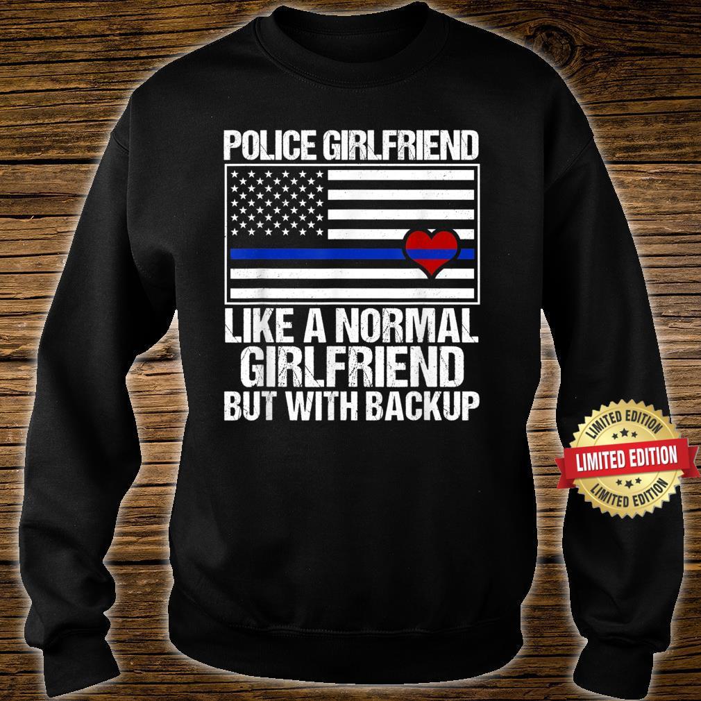 Police Girlfriend Blue Line Flag Heart Shirt sweater