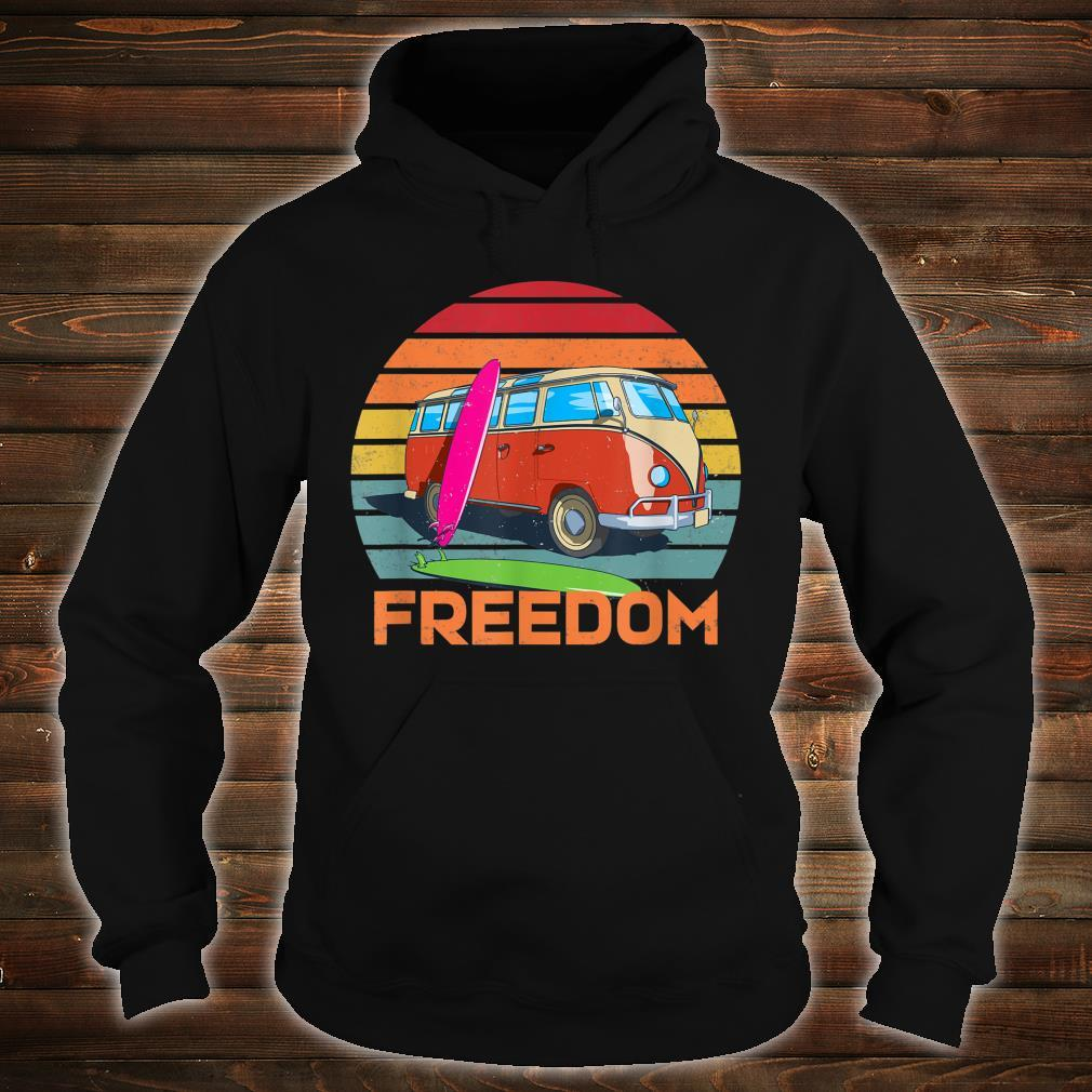 Retro Camper Surfer Van Life Outdoor Boondocking Freedom Shirt hoodie