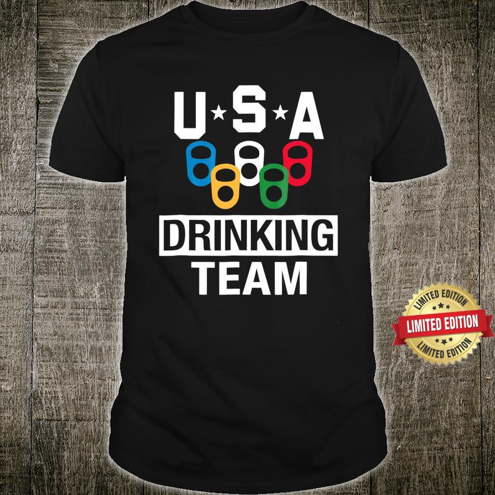 USA Drinking Team Shirt Beer Party Shirt