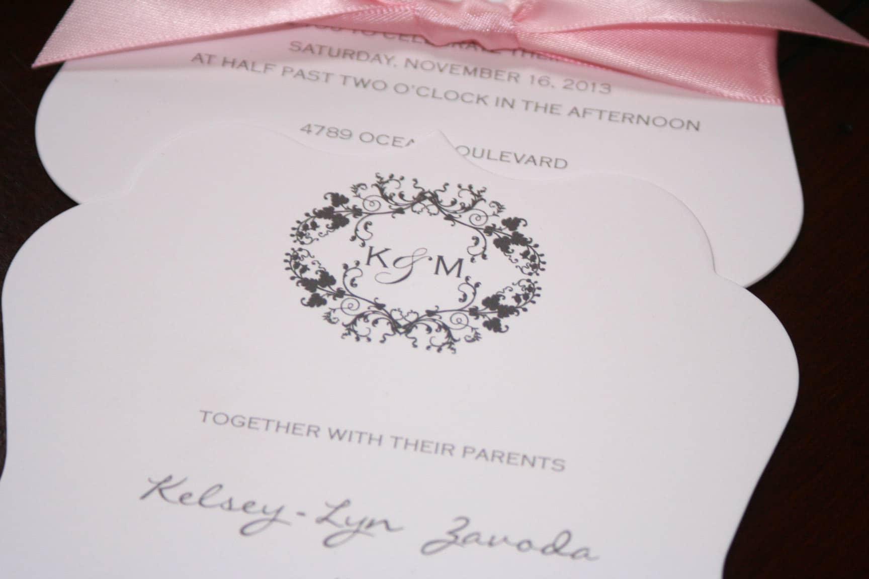 Die Cut Wedding Invitations Too Chic Amp Little Shab