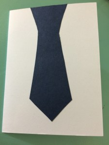 Father's Day card glue tie2