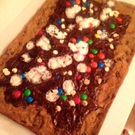 Inside Jamie's Kitchen: Brownie Pizza Recipe (With Cookie Dough Crust!)