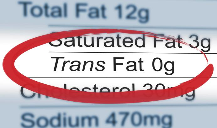 Close up of a nutritional label centered on Trans Fat content. Daily Features, Fitness & Wellbeing, 14JAN2014
