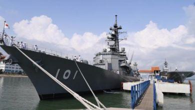 Photo of Dua Kapal Perang Terbesar Jepun Berlabuh Di Pelabuhan Klang
