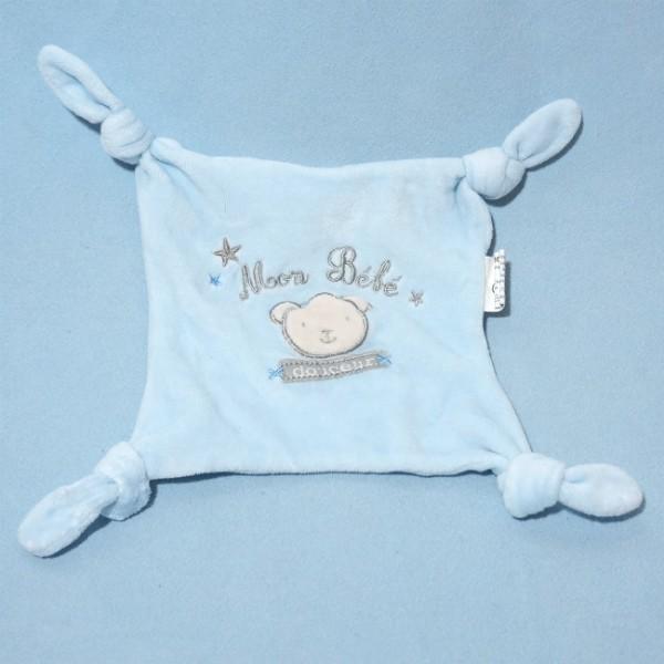 sos doudou carre plat gemo bleu mon bebe douceur toodoux