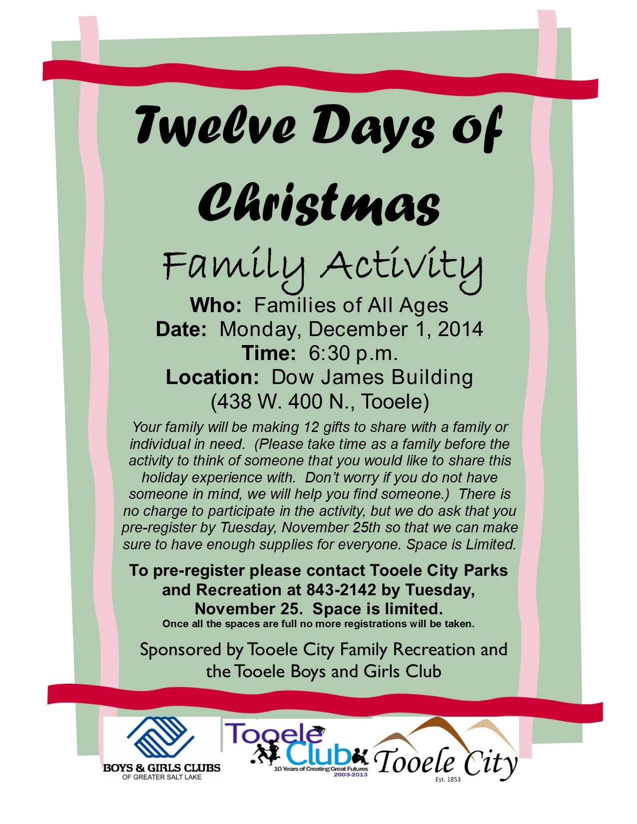 12 Days Of Christmas A Free Family Event