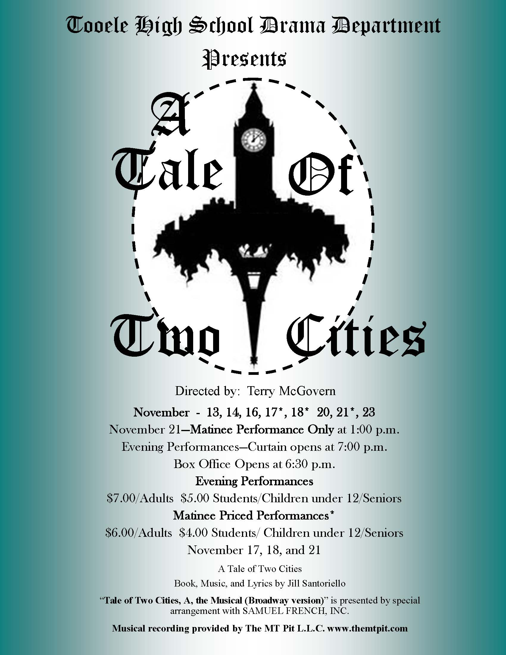 T H S Drama Presents A Tale Of Two Cities