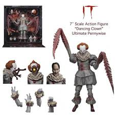 Figura Articulada Pennywise NECA Reel Toys IT Terror the Dancing Clown 7""