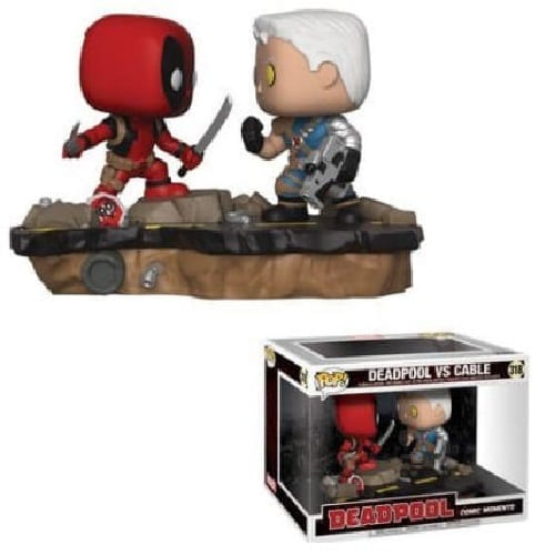 Figura Deadpool y Cable Funko POP Deadpool Marvel Movie Moments