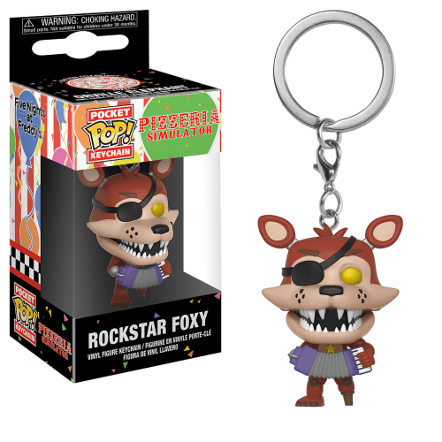 Llavero Rockstar Foxy Funko POP Five Nights at Freddy's Videojuegos