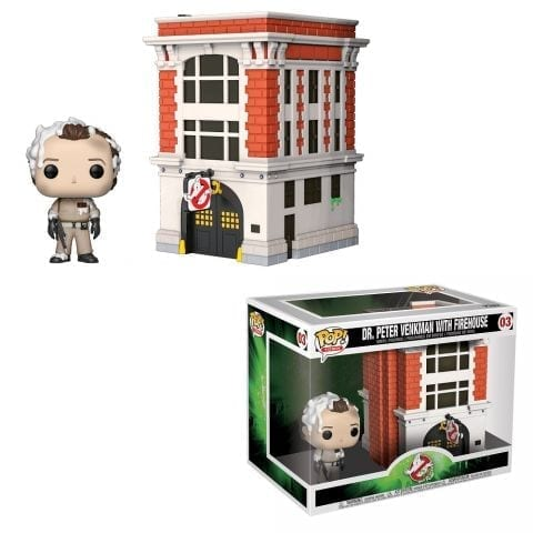 Figura Peter y Cuartel de los Cazafantasmas Funko POP Ghostbusters Ciencia Ficción Movie Moment