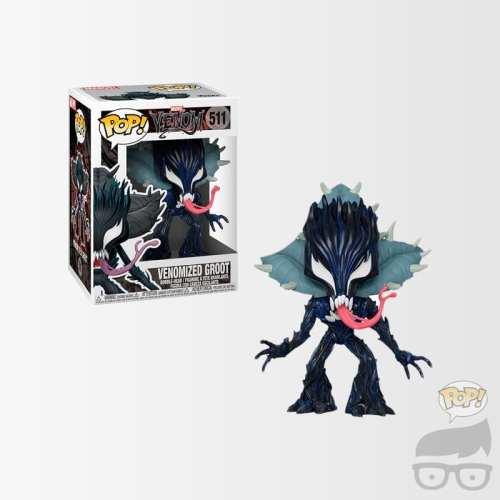 Figura Groot Funko POP Max Marvel Venomizada
