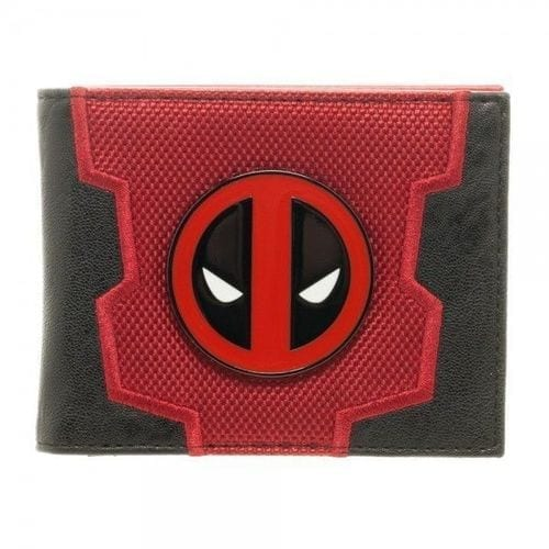 Billetera en Cuerina Deadpool Logo Metálico Bioworld Deadpool Marvel (Copia)