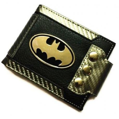 Billetera de Botones para Ajustar a Cinturón Logo Batman Metálico PT Batman DC Comics