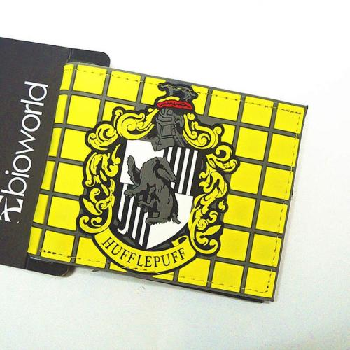 Billetera Harry Potter PT Harry Potter Fantasia En Goma (Emblema Hufflepuff)