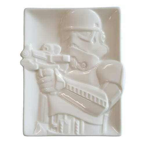 "Plato Cerámico Stormtrooper Hallmark Star Wars con Relieve 6"""