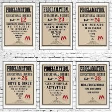 Impreso Proclamaciones Educativas de Hogwarts Poof B Harry Potter Fantasia Paquete x8