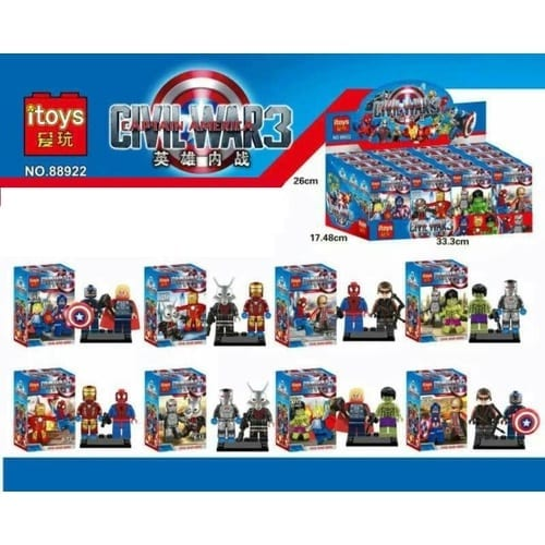 Figura Civil War Heroes Itoys Marvel 2 en 1