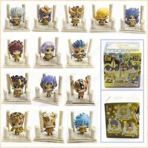 Figura Caballeros Dorados Petit Chara Land Caballeros del Zodiaco Anime (Copia) Caja Sorpresa