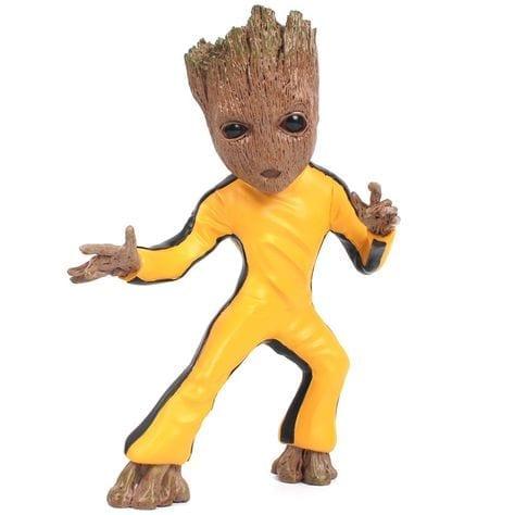 "Figura Bruce Lee Baby Groot PT Guardianes de la Galaxia Marvel 12"" (Copia)"
